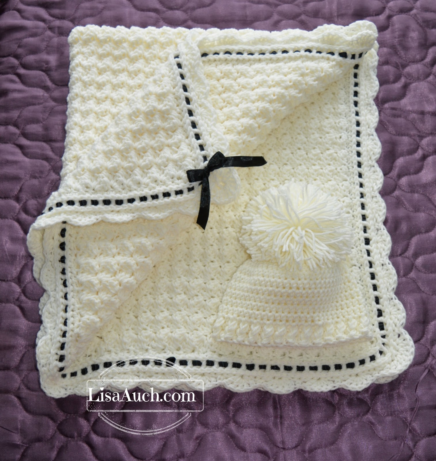 Crochet Baby Blanket Crochet Baby Hat Pattern (Crochet Hat and ...