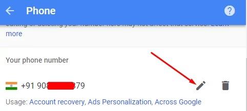 gmail se phone nubmer kaise hataye