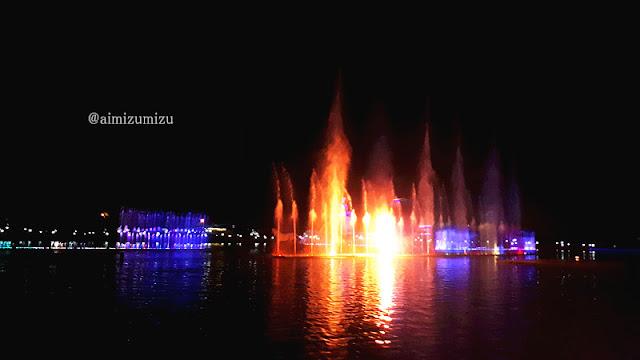 Taman air mancur terkenal di purwakarta