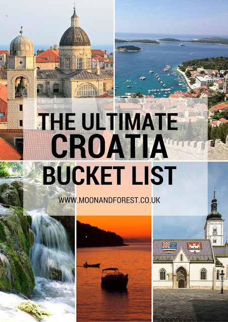 Where to visit in Croatia. The ultimate travel bucket list.