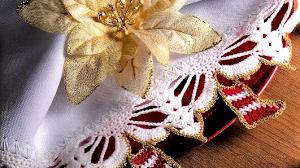 Guarda con botitas de Navidad