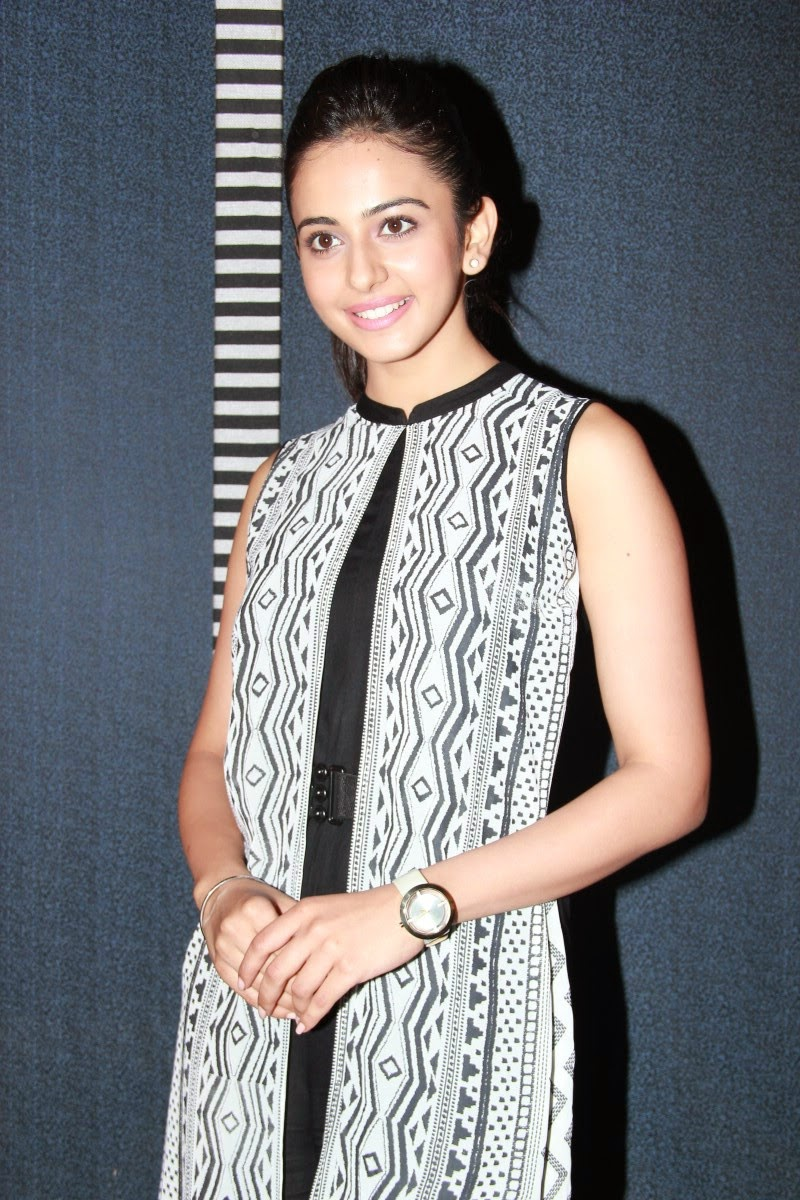 Beautiful Telugu Girl Rakul  Preet Singh Photos In Black Dress