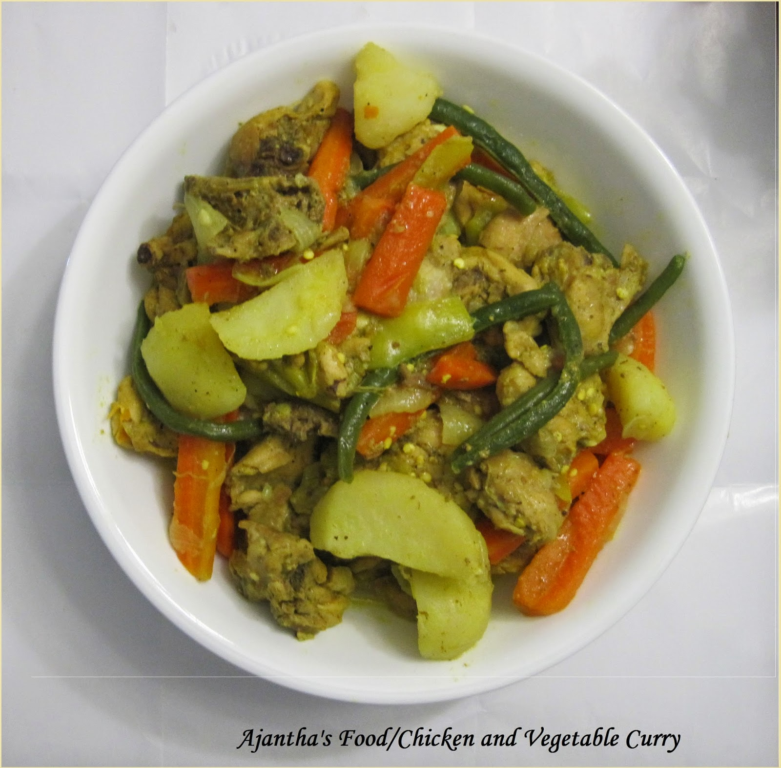 Ajantha's Food/Chicken and Vegetable yellow Curry