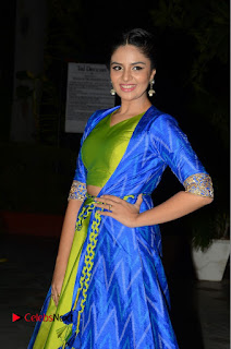 Telugu Cinema Actress Anchor Srimukhi Pictures at Rail Movie Audio Launch  0041.JPG