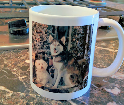 I had mugs custom made with my dogs' photo on them