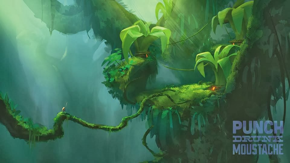 concept art picture of a tree frog landscape
