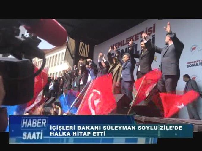 Süleyman Soylu Zile İstasyon Caddesi'nde düzenlenen mitingde yaptığı konuşmasında