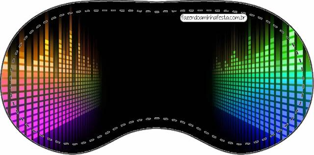 Antifaz para dormir  para imprimir gratis para Fiesta de Pixels de Videojuegos.