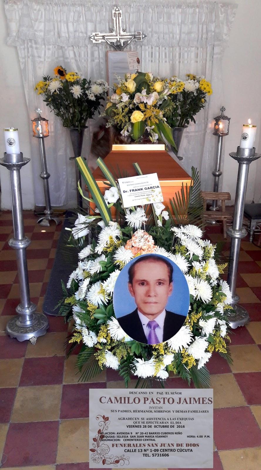 En Cúcuta, el Dr. Camilo Pasto Jaimes, descansó en la Paz del Señor #ReporteroSoyYo #RSY #CorpoFrontera #CF