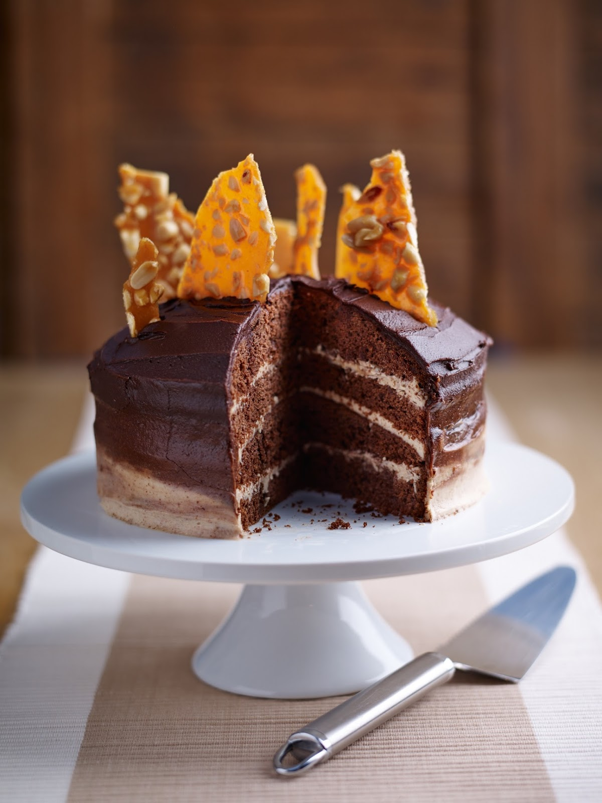 Ombre Chocolate Peanut Butter Celebration Cake