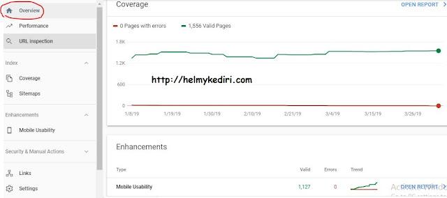 halaman overview webmaster