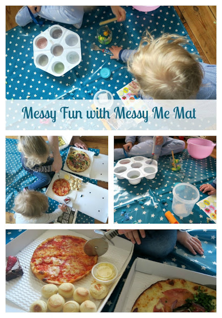Messy Me Mat Teal Pizza Express and Crafting Review