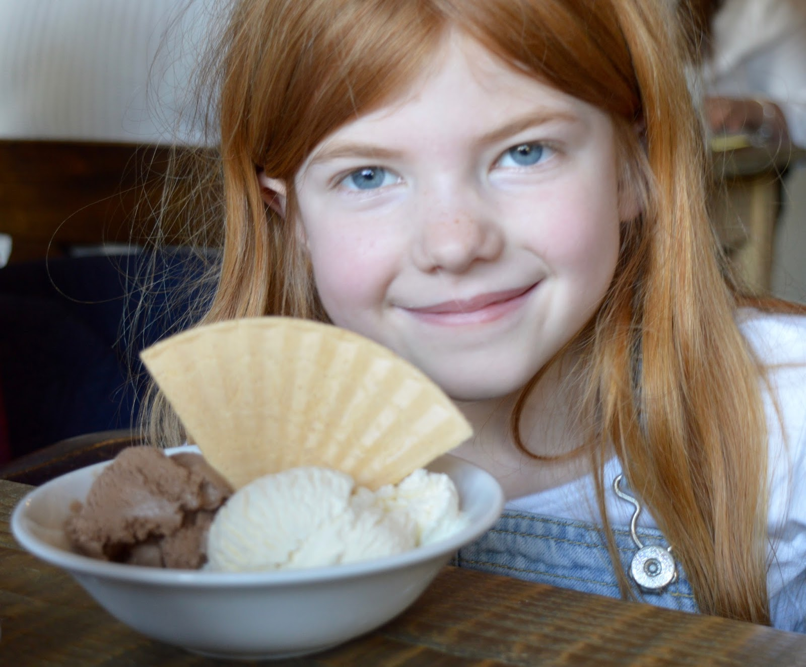 The Northumberland Arms, Felton - kids ice cream