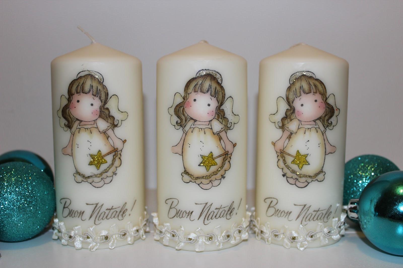 Eccezionale Le creazioni di Maichi: Candele decorate OU21