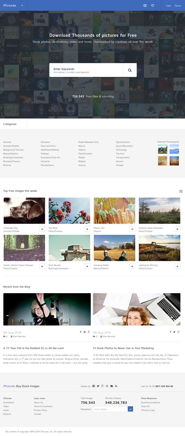 premium stock image website template