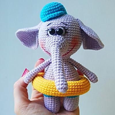 Слон амигуруми игрушка крючком