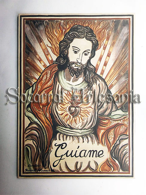 Socarrat Sagrado Corazón de Jesús. Realizado por Camateu. Soc-Art. Socarrat Artesanía
