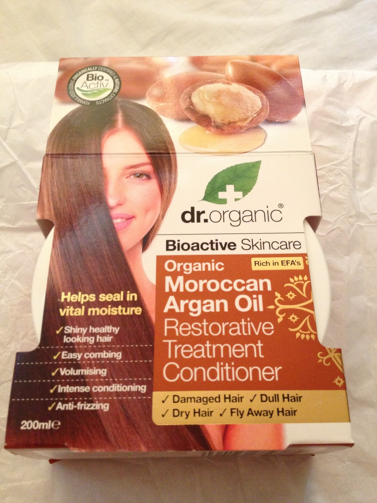 dr organic restorative treatment conditioner