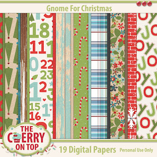 Gnome For Christmas Papers