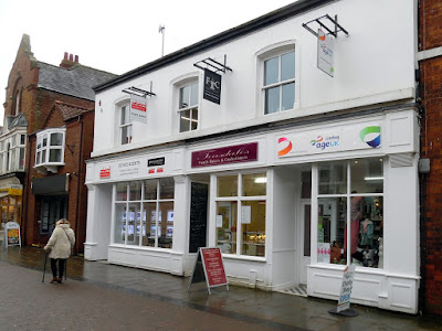 The refurbished shops on Wrawby Street, Brigg, which have won a civic award - March 2019