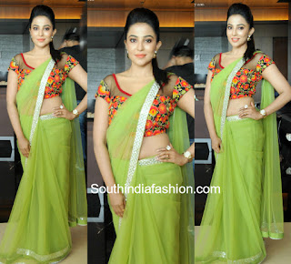 PLAIN GREEN SAREE