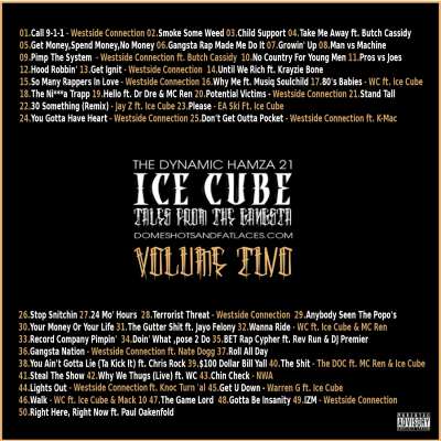 The Dynamic Hamza 21® - Ice Cube -Tales From The Gangsta Volume Two