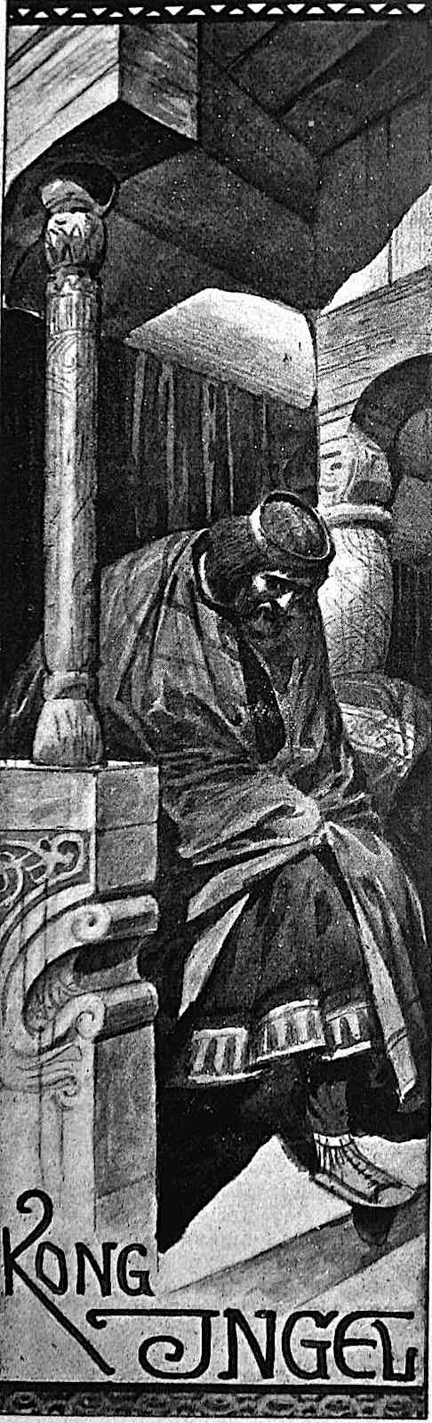 a Louis Moe illustration of a king on a throne