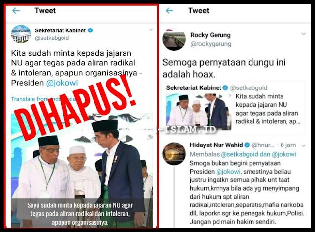 Mengaku Salah Kutip Pernyataan Jokowi, Admin @setkabgoid Dicopot