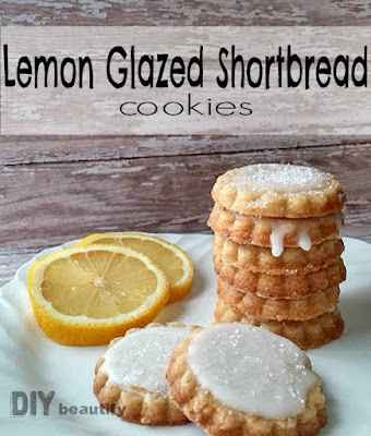 Lemon Glazed Shortbread Cookies | DIY beautify