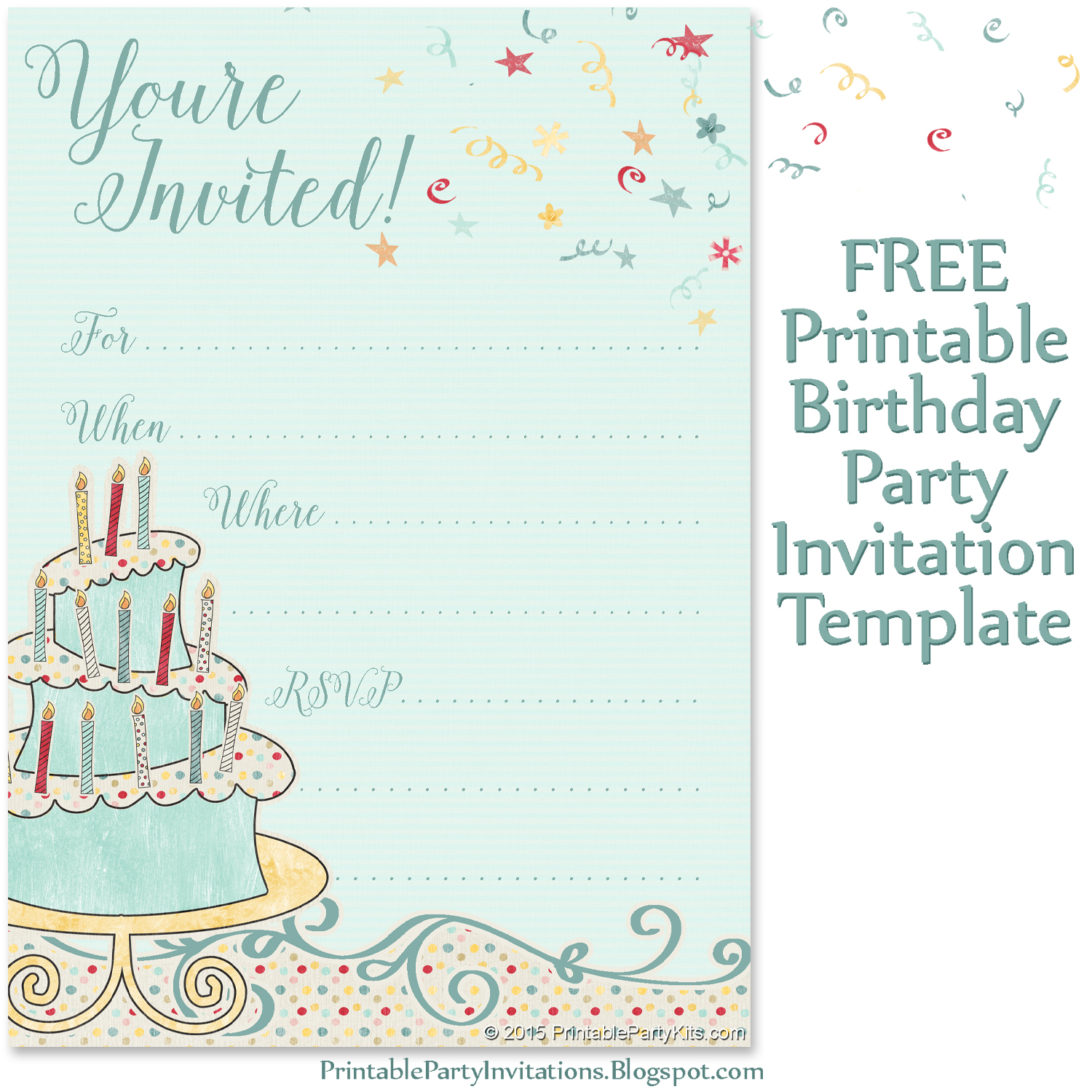 Free printable party invitations whimsical birthday party invite filmwisefo