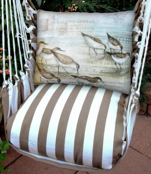 Coastal Hanging Swing Chair