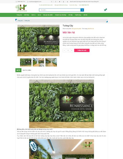 Template blogspot dịch vụ thiết kế sân vườn  - Giaodienblog.com