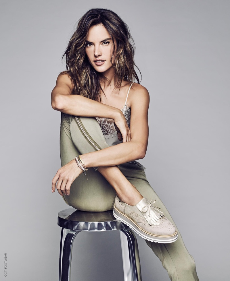 Alessandra Ambrosio stars in the XTI Shoes Spring/Summer 2017 Campaign