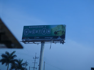 Welcome to the Yucatan sign.