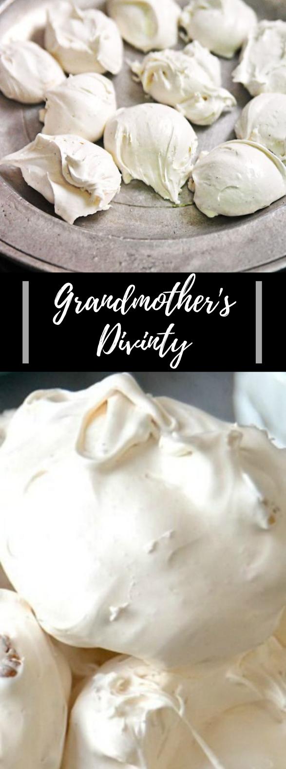 Divinity Recipe #Candy #Dessert