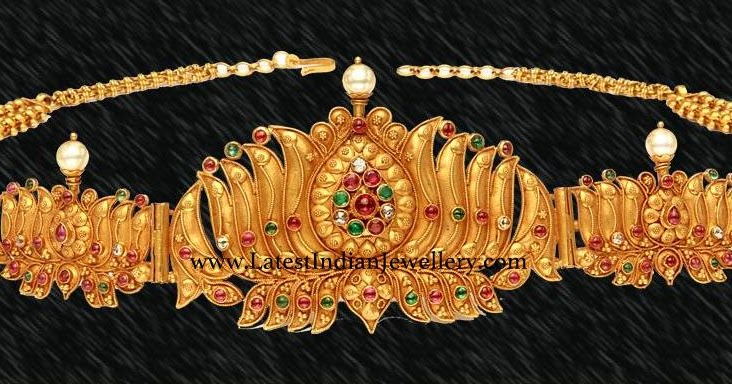 Lotus Design Baby Vaddanam Latest Indian Jewellery Designs