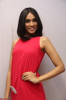 Spatika Surapaneni in Red Tight Dress at FBB Miss India 2017 finalists at Telangana auditions Feb 2017 (51).JPG