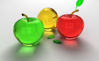 Gambar Buah Apel 3D Buah-Buahan Wallpaper HD