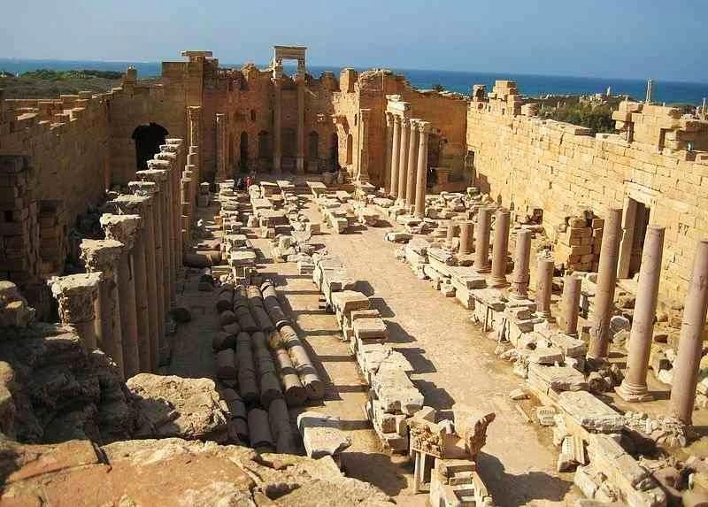 lepcis magna,libia,wisata libia,kota hilang
