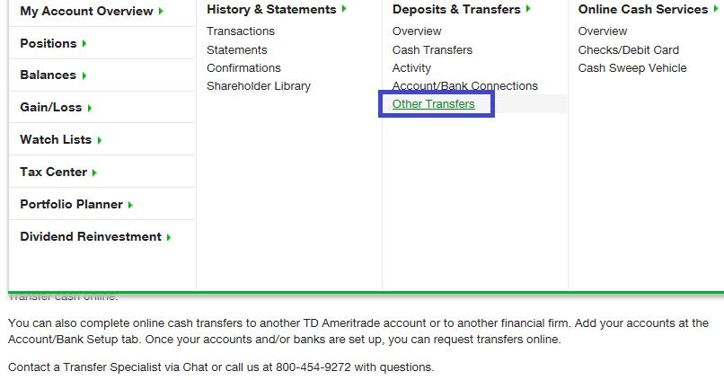 FAQs Transfer TD Ameritrade - mandegar info