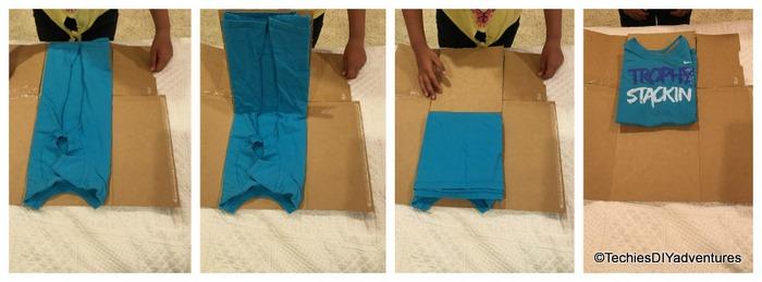 TShirt Folder using Empty Cereal Box