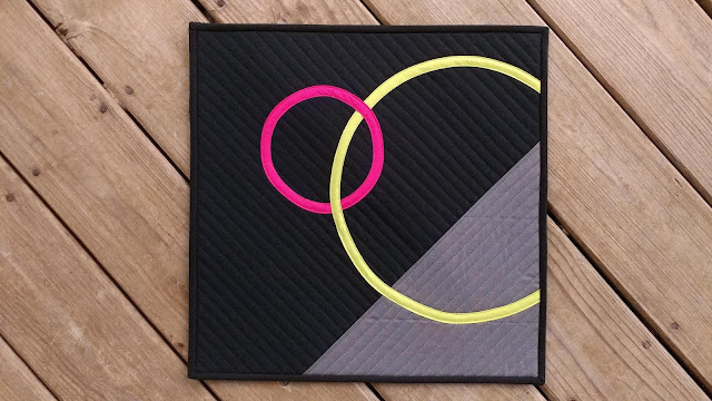 Minimal mini quilt for Curated Quilts