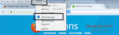 Tools SQlite Manager