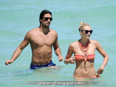 Sami Khedira and his girlfriend