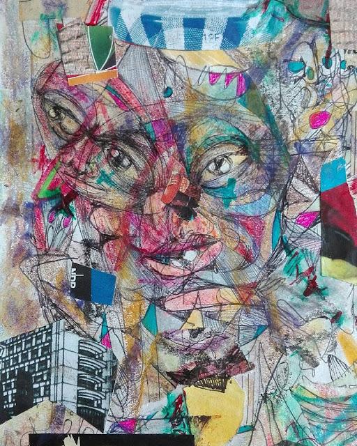 "Luis Ricardo. Collage ""La aureola"""