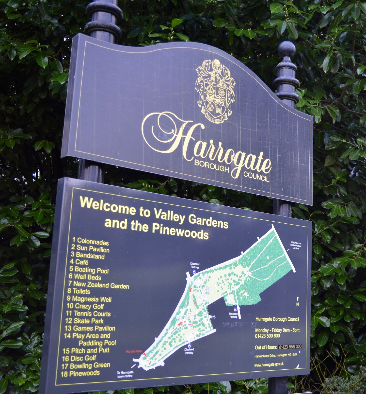 What to do in Valley Gardens, Harrogate | Play area, Pitch & Putt, events & more - park map
