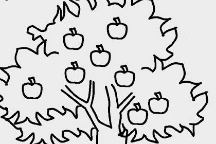 Gambar Mewarnai Pohon Apel