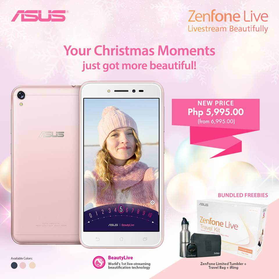 Buy ZenFone Live for Only Php5,995 under Zenny Merry Christmas Promo