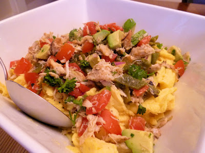 Perfect Scrambled Eggs w/ Crab & Pico