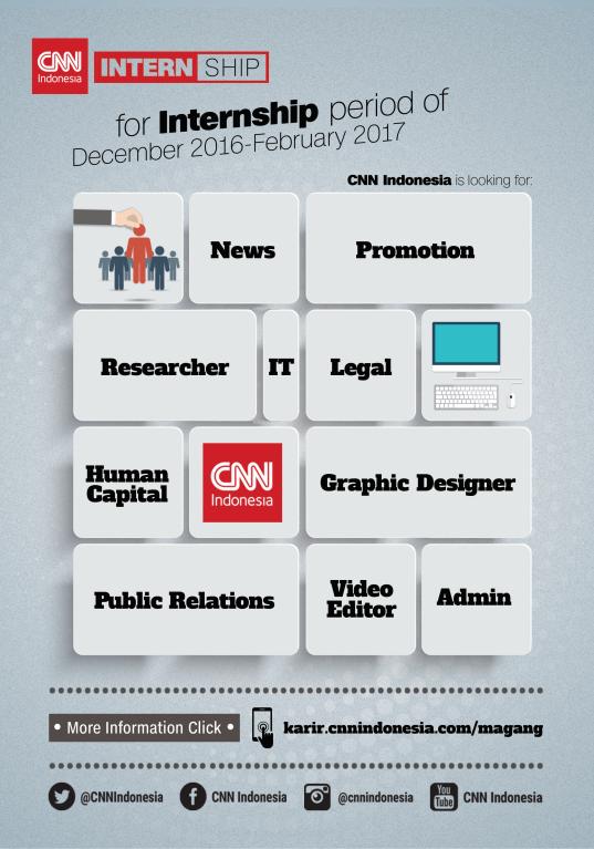 Lowongan Kerja CNN Indonesia ( Magang ) Oktober 2016